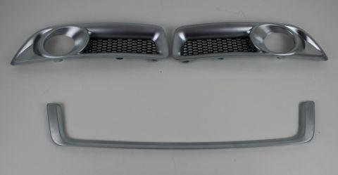 Spoilerlys/foglamp rammer i mattcrom V70 08-13  sett h+v