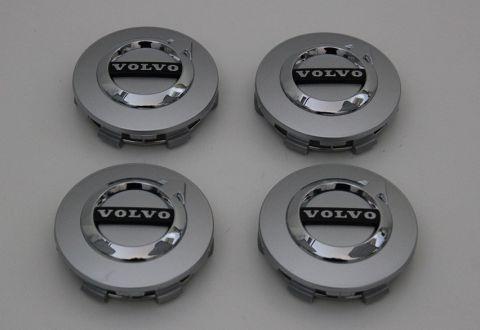 Senterkopp Volvo mange modeller der 64mm. Lys sølv sett
