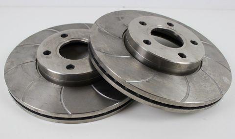 Bremseskivesats Foran S40/V50/C30/C70 278mm Slissa Type-Par