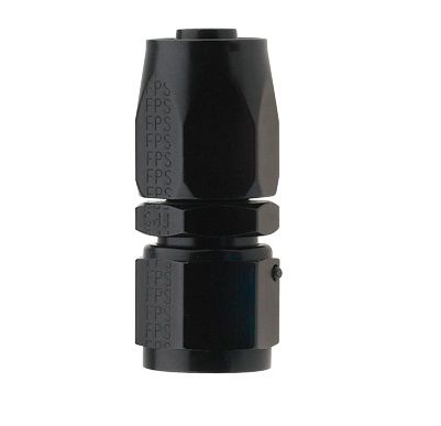 AN4 STRAIGHT PRO-FLOW HOSE END BLACK