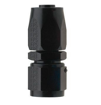 AN6 STRAIGHT PRO-FLOW HOSE END BLACK