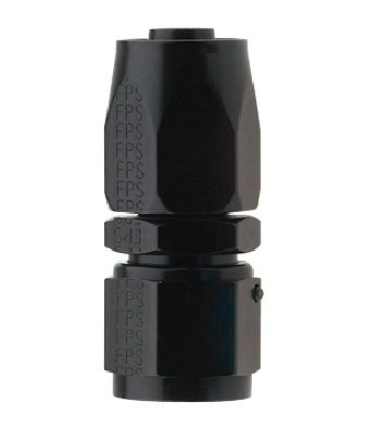 AN8 STRAIGHT PRO-FLOW HOSE END BLACK