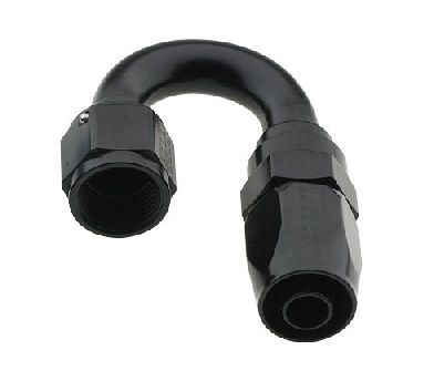 AN12 X 180 PRO-FLOW HOSE END BLACK