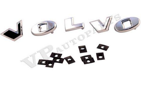 Panser emblem bokstaver sett m/klips 67-70 Amazon/P1800 sølv