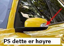 BLINKLAMPEGLASS I HØYRE SPEIL C30,V50,V70 ++
