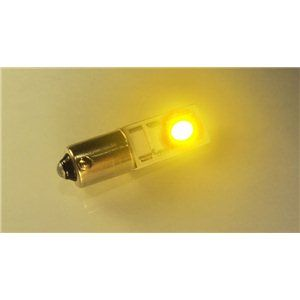 X-D LIGHT BA9S 2SMD LED WITH CANBUS RESISTOR - LEMON YELLOW - PAIR