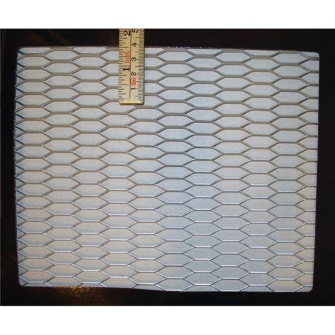 GRILLMESH HONEYCOMB (27X10MM) 20 X 125 CM SILVER COLOR