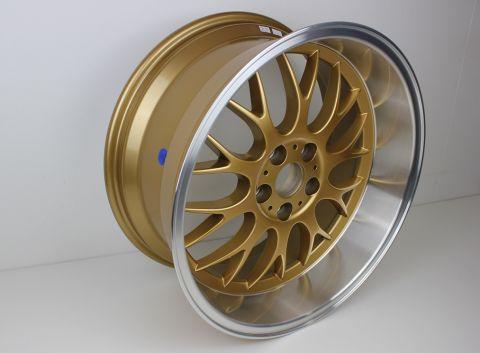 """Fälg DTM Look 8,5""""X18 5x108 ET6 Guld polish"""