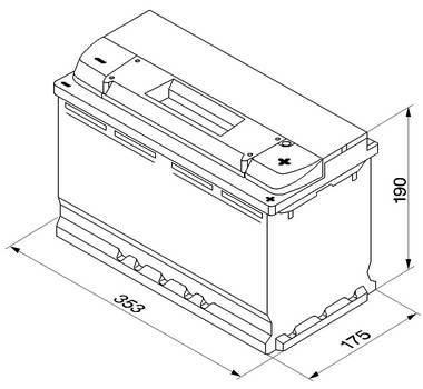 BATTERI TIL BIL BOSCH 12V 100 AMP. TILBUDSPRIS  se info: