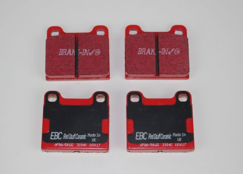 Bremsekloss sats bak ATE 1/2/7/9/8/s/v70 EBC Redstuff