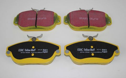 Bremsekloss sats foran 700/900 serien 91>>> EBC Yellowstuff