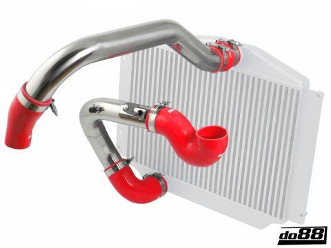 Volvo SVC70 Turbo Intercoolerrør ,rød slanger