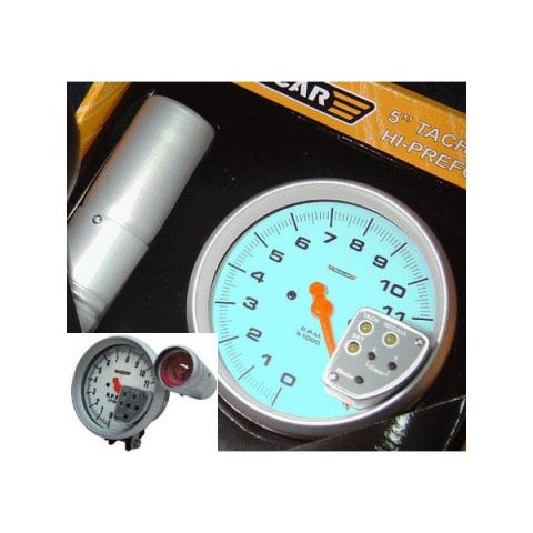 R-PERFORMANCE 5 TACHOMETER WITH SHIFT + RECALL 4/6/8 CYL BLUE LIGHT