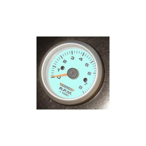 R-PERFORMANCE 52MM TACHO/RPM-GAUGE BLUE ELECTROLIGHT 4/5/6 CYL.