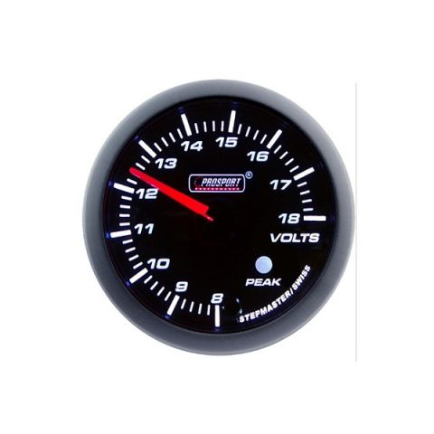 PROSPORT-S 60 MM ELECTRONIC VOLT GAUGE WITH PEAK/WARNING