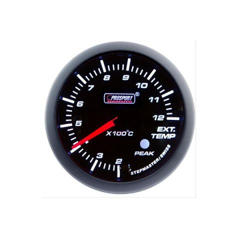 PROSPORT-S 60 MM ELECTRONIC EXHAUSTTEMP GAUGE WITH SENDER PEAK/WARNING