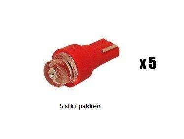 X-D LIGHT T-3 LED BULB FOR INSTRUMENTATION 5-PACK RED