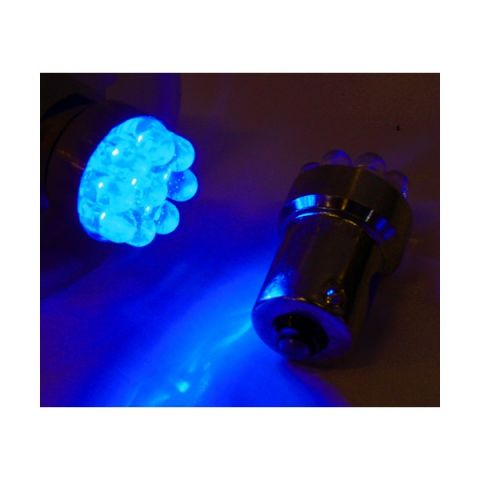 X-D LIGHT LED BULB BLUE BA15S 9 LEDS 5 WATT- PAIR