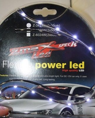 X-D LIGHT SIDEVIEW LED STRIP WHITE 12V 60CM - PAIR