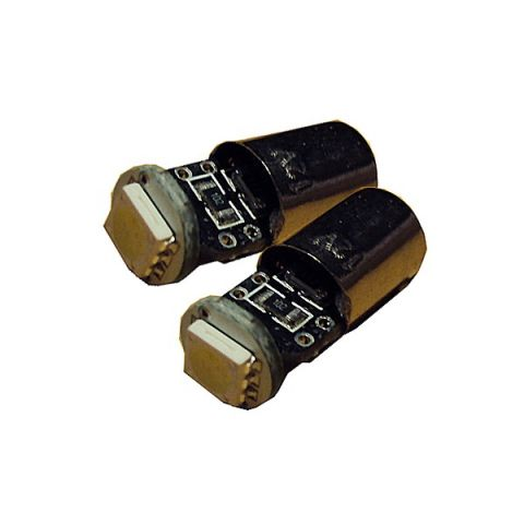 X-D LIGHT BAX9S BAYONETT OFFSET WITH RESISTOR SMD WHITE - PAIR
