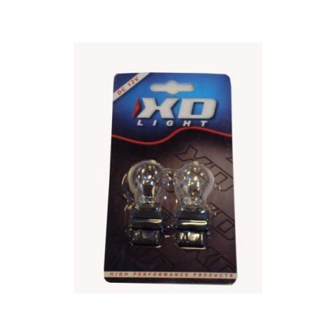 X-D LIGHT T20 21W CLEAR PLASTIC BASE -PAIR