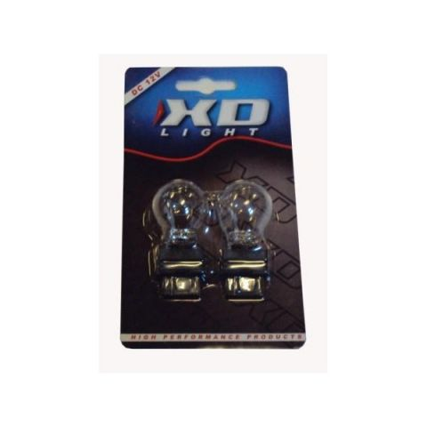 X-D LIGHT T20 5/21W 12V CLEAR PLASTIC BASE -PAIR