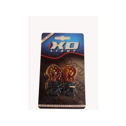 X-D LIGHT T20 21W 12V ORANGE AMBER PLASTIC BASE -PAIR