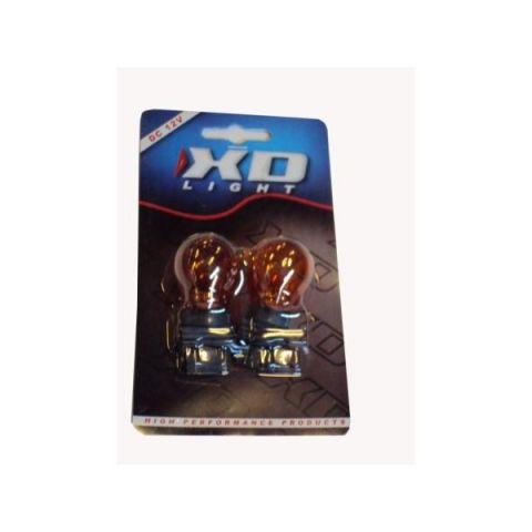 X-D LIGHT T20 5/21W 12V ORANGE AMBER PLASTIC BASE -PAIR
