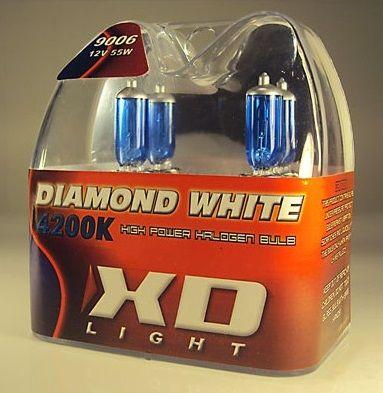 X-D LIGHT 9006/HB4 DIAMOND WHITE BULBS 4200K - 55W- PAIR IN BOX