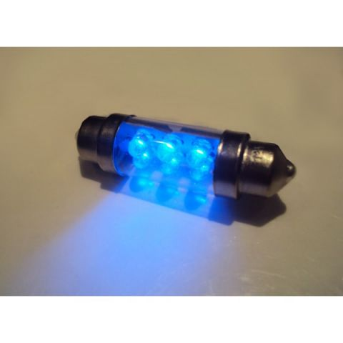 X-D LIGHT DOMELIGHT 38MM 6-LED BLUE - PAIR