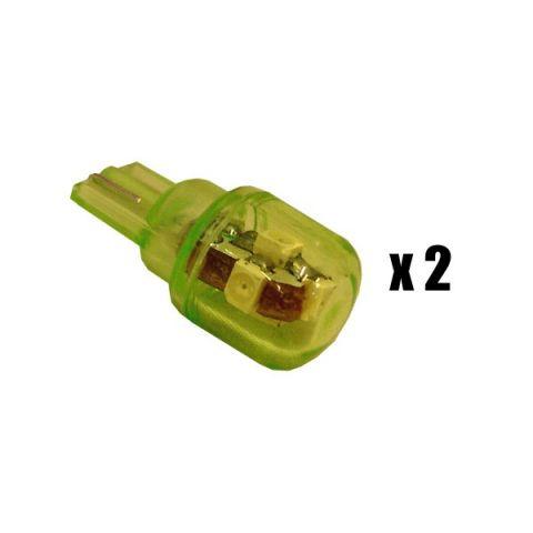 X-D LIGHT T10 SUPER BRIGHT 5LED 2-PACK GREEN